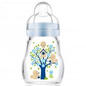 MAM晶彩耐溫玻璃奶瓶170ml (藍色)