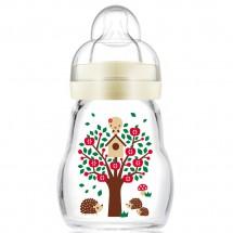 MAM晶彩耐溫玻璃奶瓶170ml (黃色)