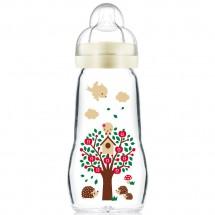 MAM晶彩耐溫玻璃奶瓶260ml (黃色)