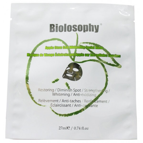 Biolosophy蘋果幹細胞精華亮白面膜 (單片)